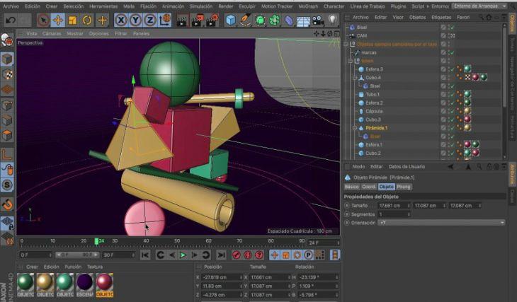 Creación de Formas Geométricas en 3D con Cinema 4D