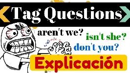 Tag Questions en Inglés