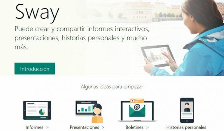 Uso de Sway de Office 365 en la Docencia