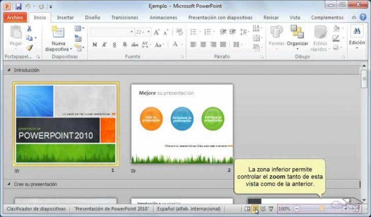 Uso de PowerPoint 2010